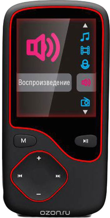 Digma Cyber 3L 4Gb, Black Red MP3-плеер